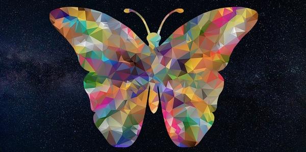 CG風の蝶