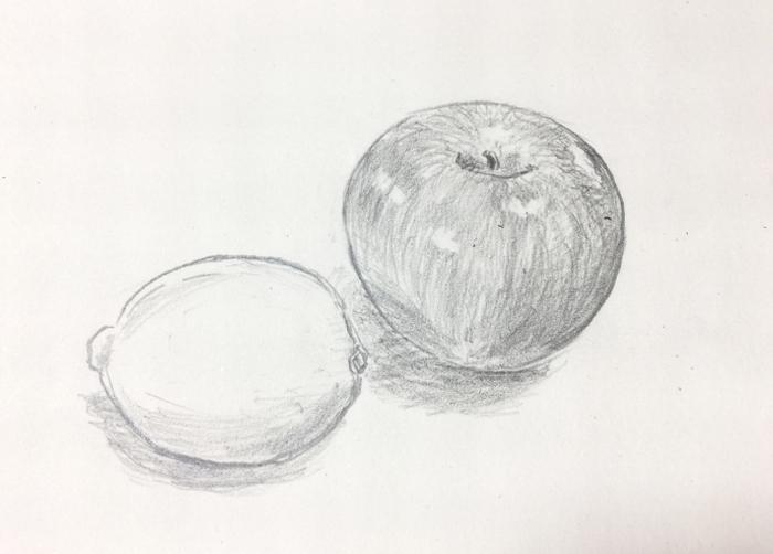 鉛筆で描き起こし